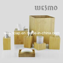 Umweltfreundliches Bambusbadezimmer-gesetztes Badezimmer-Zubehör-Bad-Zusatzgerät