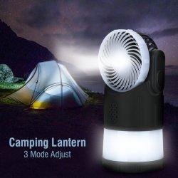 Multifunción Camping Camping LED ventilador repelente de mosquitos Antorcha Linterna de pesca