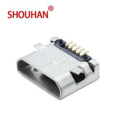 La carga micro USB Conector hembra de 5 pines Micro SMD BORDE RECTO