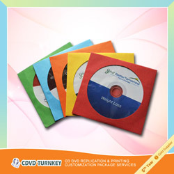CD/DVD Replication mit Color Paper Sleeve Packaging