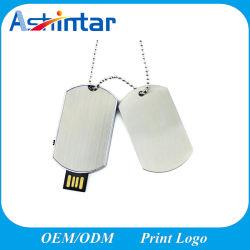بطاقة الكلب USB Flash Memory Stick Metal Mini USB Flash Drive (القيادة)