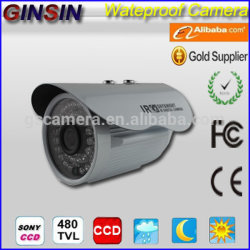 CCD de alta concentração Sony Effio 700TVL IR à prova de câmara CCTV com controlo automático de ganho, equilíbrio de brancos automático funcione, IP66