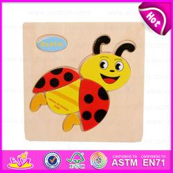 Smart 2015 Juegos de Puzzles de madera juguetes para niños, juguetes para niños rompecabezas de madera, juguetes educativos Venta caliente Cartoon Puzzle madera juguete W14c098