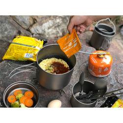 야외 티타늄 경량 하이킹 접이식 캠핑 요리 냄비 팬