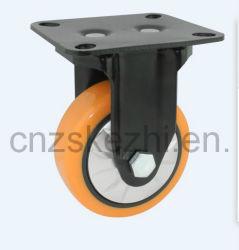 Tipo fisso rotella girevole arancione di dovere Med-Pesante Mh1 della rotella dell'unità di elaborazione del cuscinetto a sfere del doppio