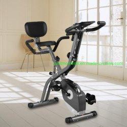 Bicicleta de exercício 10 níveis de resistência magnética ajustáveis, dobrável e silenciosos, com faixa de resistência do braço, tela LCD, utilizados para o treinamento aeróbico aluguer