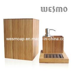 Salle de bain en bambou Compact Set (WBB0301A avec une corbeille à papier)