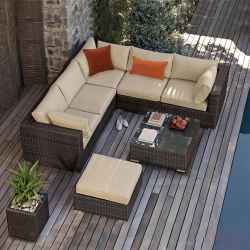 Sofá de mimbre al aire libre Villa Sillón Sofá patio terraza jardín muebles de ratán sillón de ratán balcón sofá