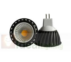 مصباح LED MR16 5 واط عاكس ضوء LED COB 12 فولت ألومنيوم أسود