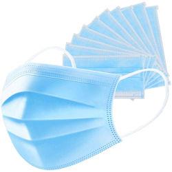 Maschera di protezione blu elastica di Earloop polvere protettiva a gettare standard giapponese veloce di consegna dell'anti per uso civile