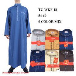 Os homens islâmica árabe muçulmano de roupas vestir Thobe homem vestido de Dubai Kaftan