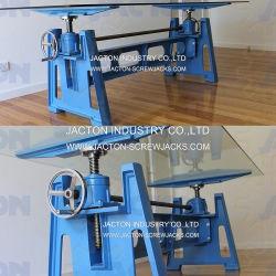 Gatos de tornillo de elevación manual Tapa de cristal mesa de café de la base del mecanismo de arranque