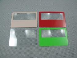 Hw802 Plastic Van bedrijfs pvc Flexibele Creditcard met Fresnel Lens Magnifier