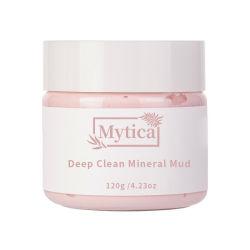 Mascherina nera del fango dell'argilla di colore rosa del contrassegno privato del fango della maschera di protezione della mascherina del fango della perla