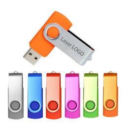 Se puede girar una unidad flash USB 64g 32g 16g 8G 4G USB Pen Drive lápices de memoria Tarjeta de Memoria Stick USB Android