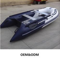 Aufblasbares Sport-Boots-Gummiboot Belüftung-Hypalon mit Aluminiumfußboden für Fischen