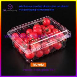 Het in het groot Plastic Fruit dat van het Huisdier van de Blaar Clamshell Duidelijke Transparante Doos verpakt