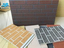 Fabrik angegebene Ziegelstein-Serien-Außenisolierseitenkonsole/fabrizierte Haus PU-Zwischenlage-Platte vor