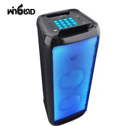 Dual 8 polegadas luz colorida caixa de madeira recarregável Bluetooth Alto-falante com DJ tocando
