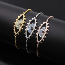 Braccialetto Chain della trasparenza del braccialetto degli occhi dell'argento sterlina dei monili 925 di modo o del diavolo dell'ottone per le donne