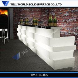 Nouvelle conception de l'acrylique coin bar comptoir de bar Le Mobilier à LED