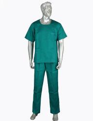 Estándar de moda ropa de enfermera clínica cuello V Doctor Traje de chaqueta de manga corta matorral