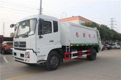 Dongfeng 4X2 Diesel 14 Cbm De Vrachtwagen van de Pers van het afval, de Compressor van het Huisvuil