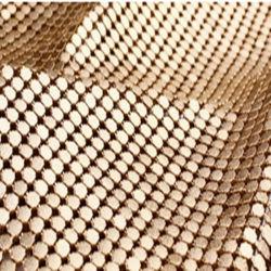 장식적인 길쌈된 금속 직물 휘장 철망사 커튼 직물