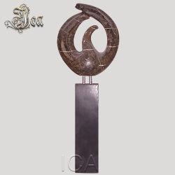 Geblasene runde geformte Skulptur-Steinmoderne Kunst
