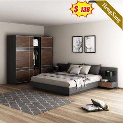 China Groothandel moderne woonkamer Kledingkast Houten Koning dubbele muur Bed Hotel Slaapkamer Huis meubilair