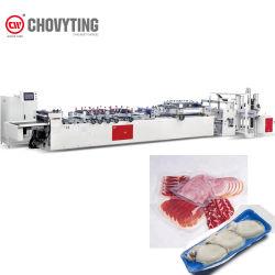 جراب منع التسرب الجانبي Pa PE 3 تلقائي عالي السرعة آلة لصنع أكياس تفريغ لحزمة الطعام