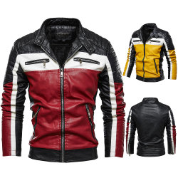 Новая конструкция мужчин зимней моды слой кожи куртка в стиле мотоцикла мужчин деловой повседневный куртки теплого Черного цвета пальто с лучшим соотношением цена