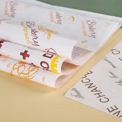 La impresión de logotipo personalizado Deli Sandwich Envoltura Burger alimentos encerado papel