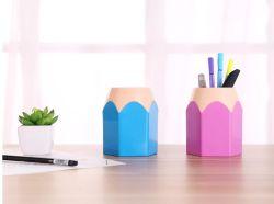マルチ目的の使用の机の鉛筆パターンプラスチックペンの鉛筆の鍋つかみの容器