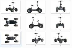 2020 Nuevo ATV eléctrico original Color negro clásico 4X4 60V/6000W todoterreno eléctrico del motor de coche en la playa