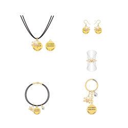 مستديرة نوع ذهب مجوهرات يثبت لأنّ نساء