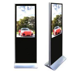 شاشة عرض تفاعلية داخلية بمشغل لإعلانات LCD لحامل أرضي بشاشة لمس LCD