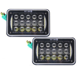 24V DRL Angel Eyes Faro Herméticos 45W 4X6, faros LED