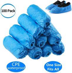 100 Pack 50 pares protecções para botas descartáveis Antiderrapante impermeável tampa da sapata de protecção