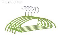 2020熱い販売PVC上塗を施してある滑り止めのプラスチック・コーティングの方法カスタム動悸の金属のハンガー