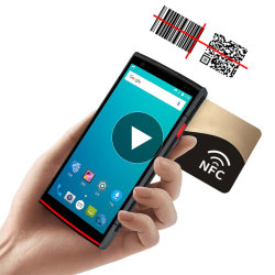 شاشة تعمل باللمس بحجم 5.5 بوصة Android Barcode Scanner PDA
