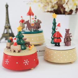 Nouveau thème de Noël boîte à musique de carrousel