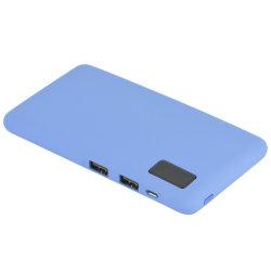 Échantillon gratuit de haute capacité de l'interface de sortie double mAh Batterie Li-polymère Slim 7600 Banque d'alimentation