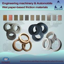 Freno y embrague de transmisión del automóvil Paper-Based húmedo los materiales de fricción