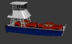 세일-해양 보트를 위한 13m 알루미늄 랜딩 크래프트 보트 자동차 운송