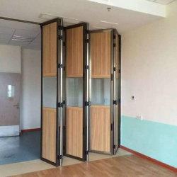 نظام الباب القابل للطي التلقائي الباب القابل للطي والتجميع التلقائي الألومنيوم طي الباب المنزلق