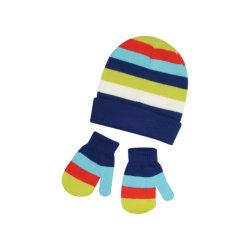 Soem passen Jungen-Babybeanie-Winter-Hut-Winter-Hut-Schal-Handschuh-Sets des Baumwollbaby-Winter gestrickte Hut-2019 an