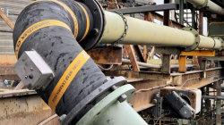 Гибкая изгиба износостойкими и коррозиеустойчивой резиновый шланг для добычи полезных ископаемых перетягивание работы