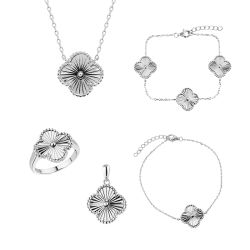 925 Silver обычная гравировка Earring ожерелье браслет украшения,