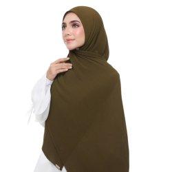 Cor pura Pearl Chiffon lenço amassado Arabian Turbante lenço muçulmano